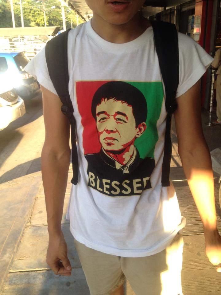 <em>An image of KIA leader Gun Maw on a t-shirt in Yangon.</em><br /><em>Credit: Susan Morelands</em>