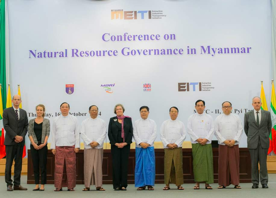 <em>Minister of Mines  Dr Myint Aung and Minister of Energy U Zeyar Aung are in attendance as Myanmar joins the EITI.</em><br /><em>Credit - Flickr: The EITI</em>